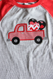Boy's Truck Valentine Shirt Darling Custom Designs