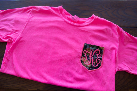Camo Pocket Tee w/ Monogram