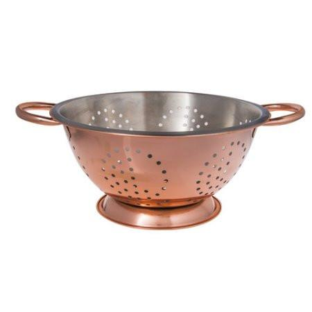 3 Quart Copper Colander