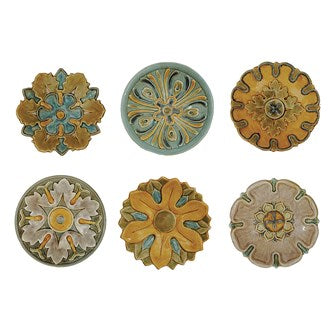 Round Terra Cotta Wall Plates 6 Styles