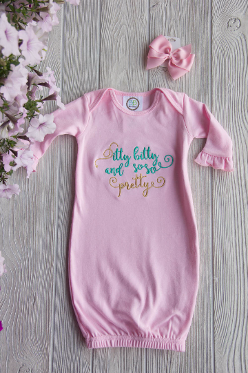 Itty Bitty and So So Pretty Newborn Gown