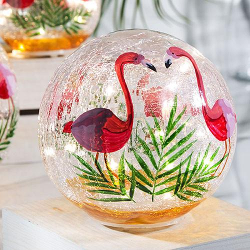 Flamingo Gazing Ball