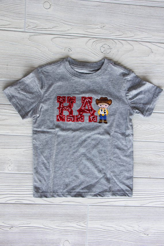 Little Cowboy Shirt w/Name | Birthday Shirt