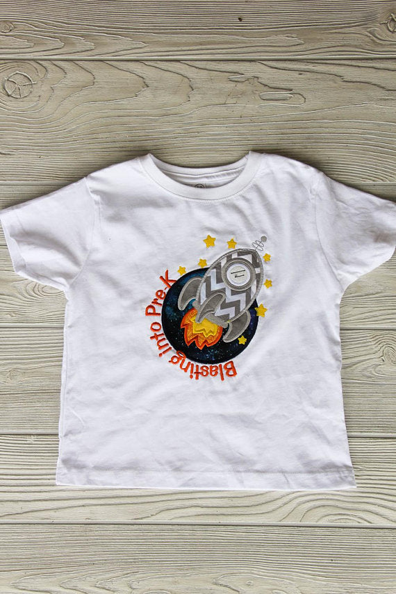 Blasting Into Pre-K Tee Darling Custom Designs