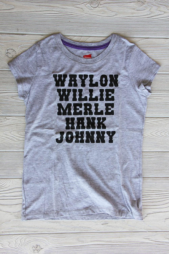 Country Singers Girls Tee