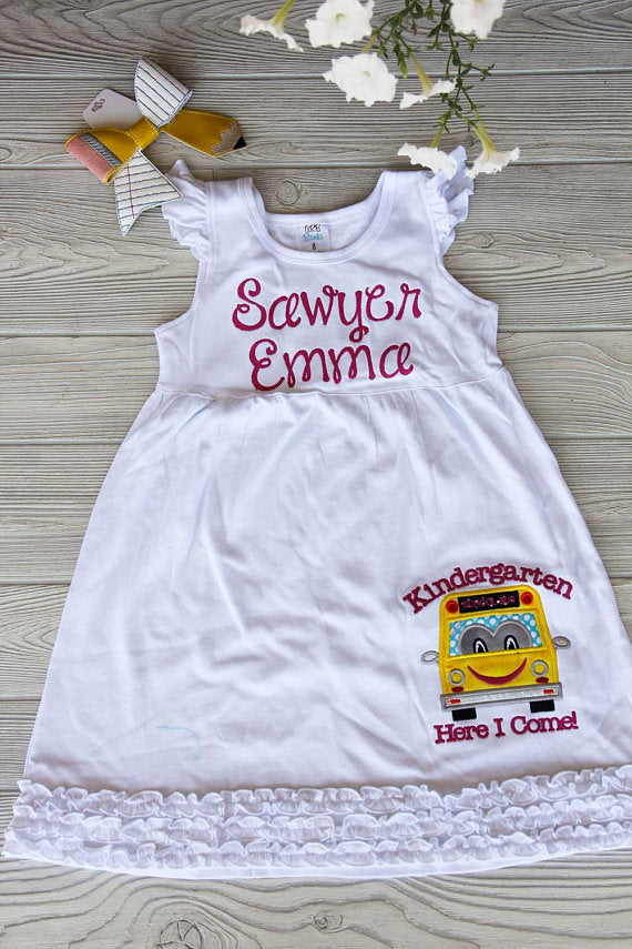 First Day of School Dress | Customize Grade