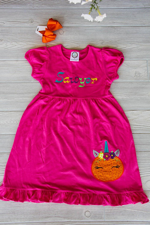 Unicorn Pumpkin Dress