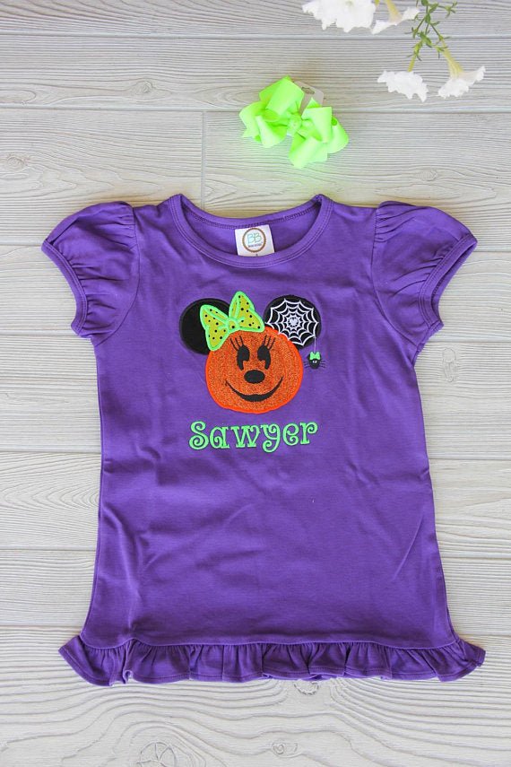 Minnie Mouse Halloween Ruffle Tee