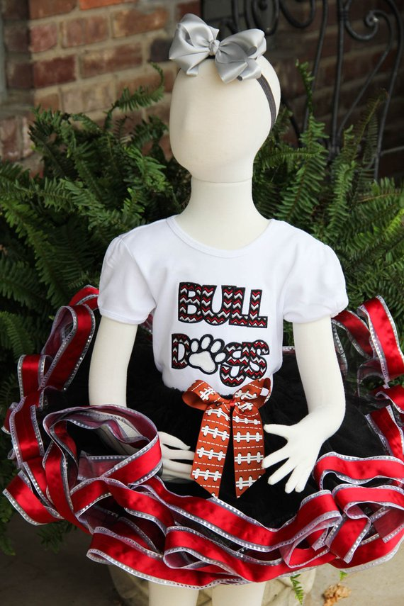 Girl's Bull Dogs Homecoming Outfit