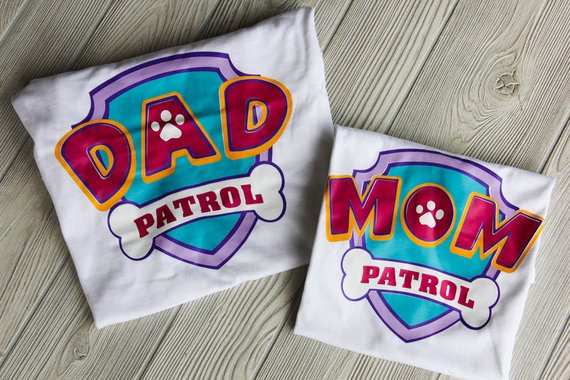 Paw Patrol Custom Parents Shirts