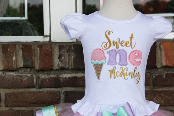 Ice Cream First Birthday Outfit