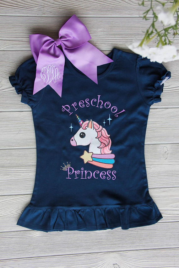 Preschool Princess Unicorn Tee