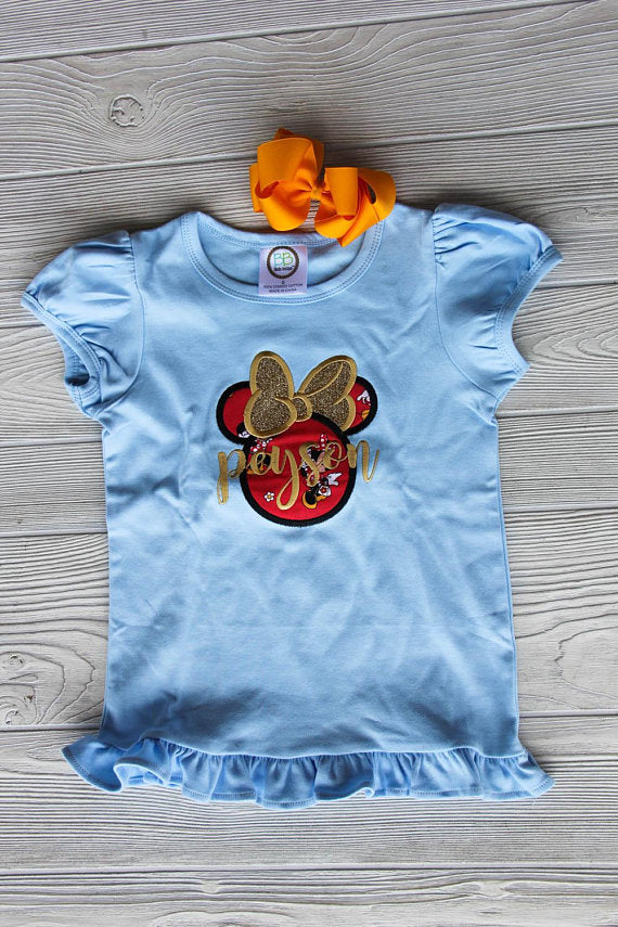 Minnie Mouse Inspired Ruffle Tee