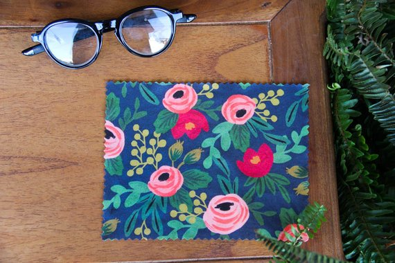 Rifle Paper Inspired Lens Cloth Darling Custom Designs