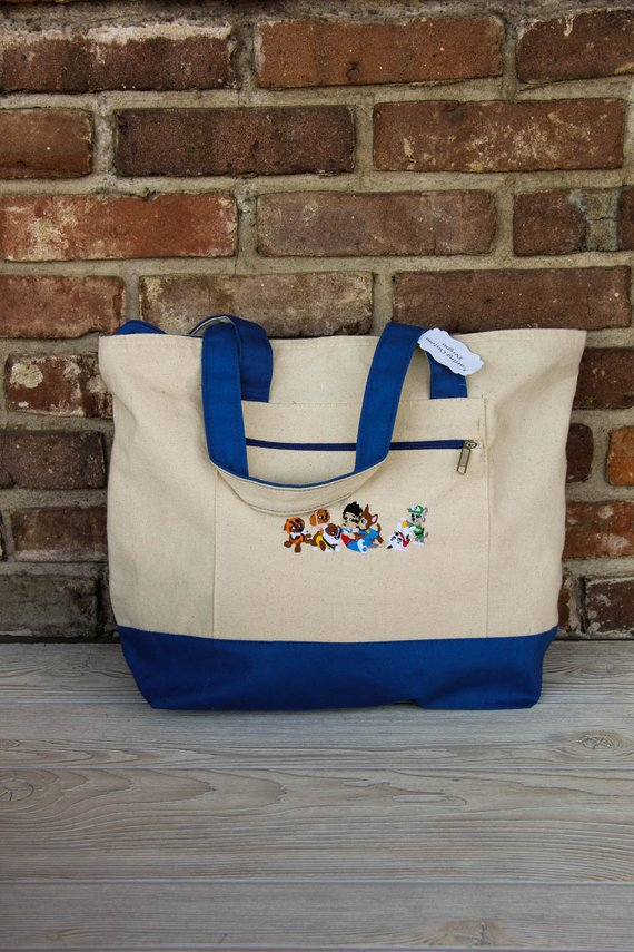 Paw Patrol Tote Bag Darling Custom Designs