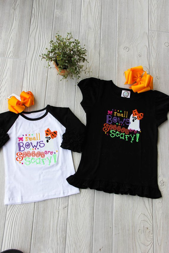 Small Bows are SOOOO Scary | Girl's Cute Halloween Shirt
