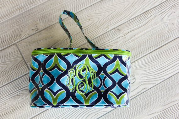 Monogrammed Large Cosmetic Bag | Train Case