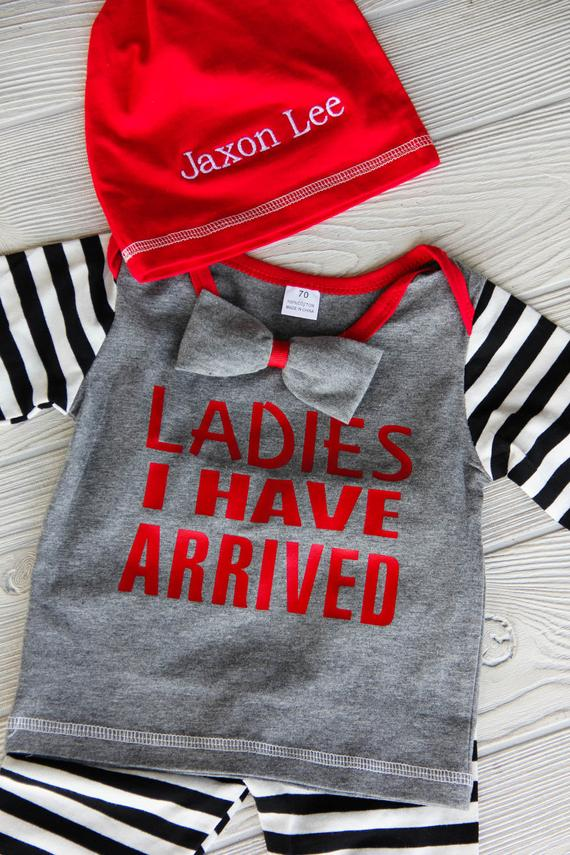 Ladies I Have Arrived Boy's Newborn Outfit