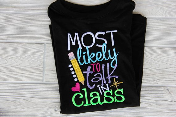 Most Likely to Talk in Class Ruffle Tee