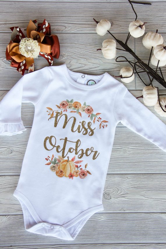 Miss October Onesie