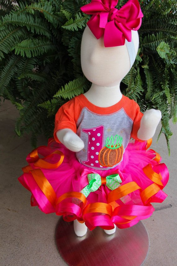 First Birthday Lil Pumpkin Bumpkin Outfit Set