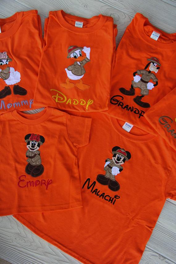 Disney Inspired Animal Kingdom Family Shirts Set
