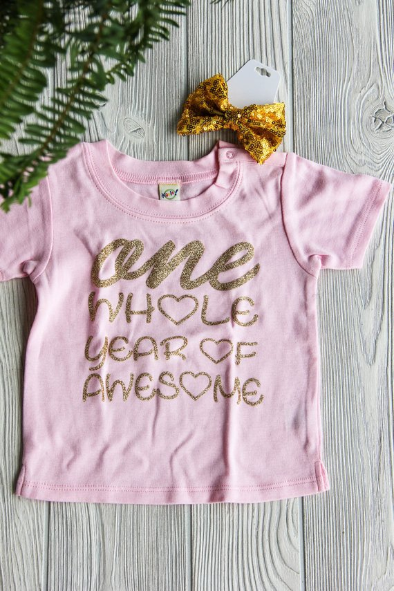 First Birthday Shirt | One Whole Year of Awesome