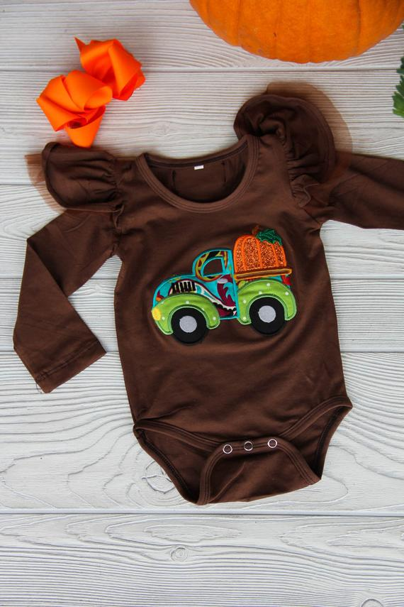 Little Pumpkin Fall Flutter Onesie