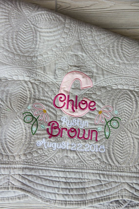 Birth Announcement Baby Blanket
