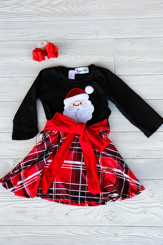 Santa Clause Christmas Dress