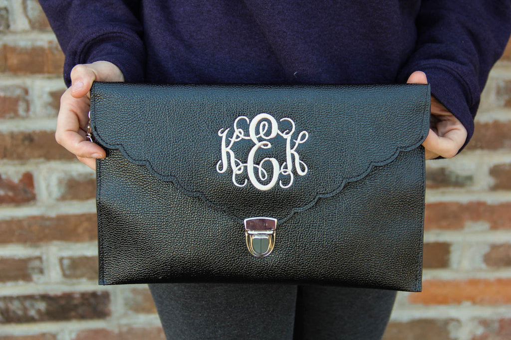 Envelope Clutch w/ Monogram