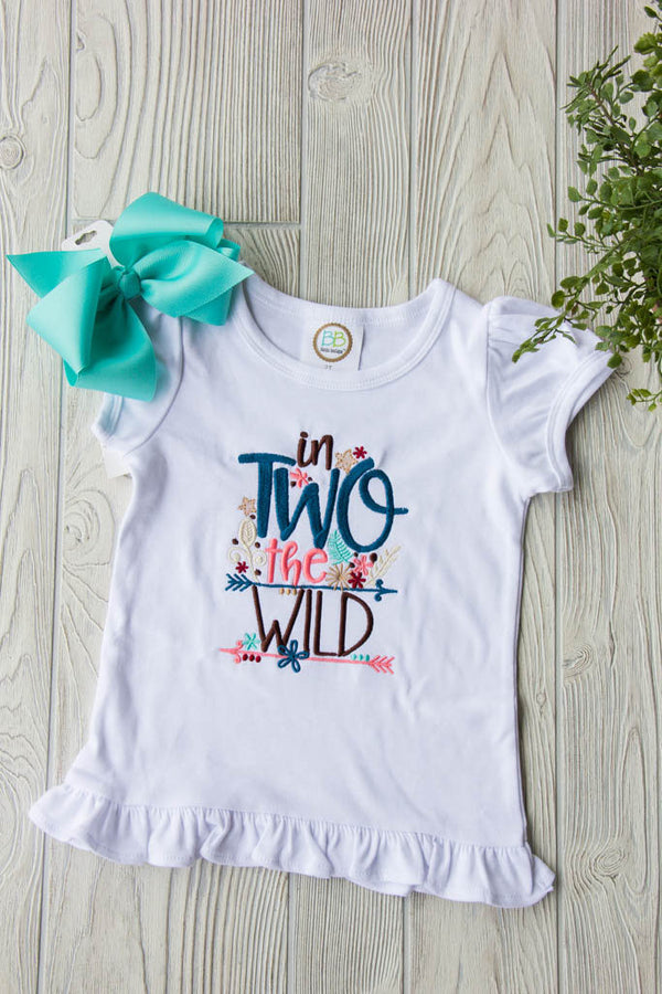 Into the Wild Age Ruffle Tee - In TWO the Wild