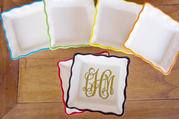 Ring Dishes w/ Personalization Darling Custom Designs Vinyl  Colors
