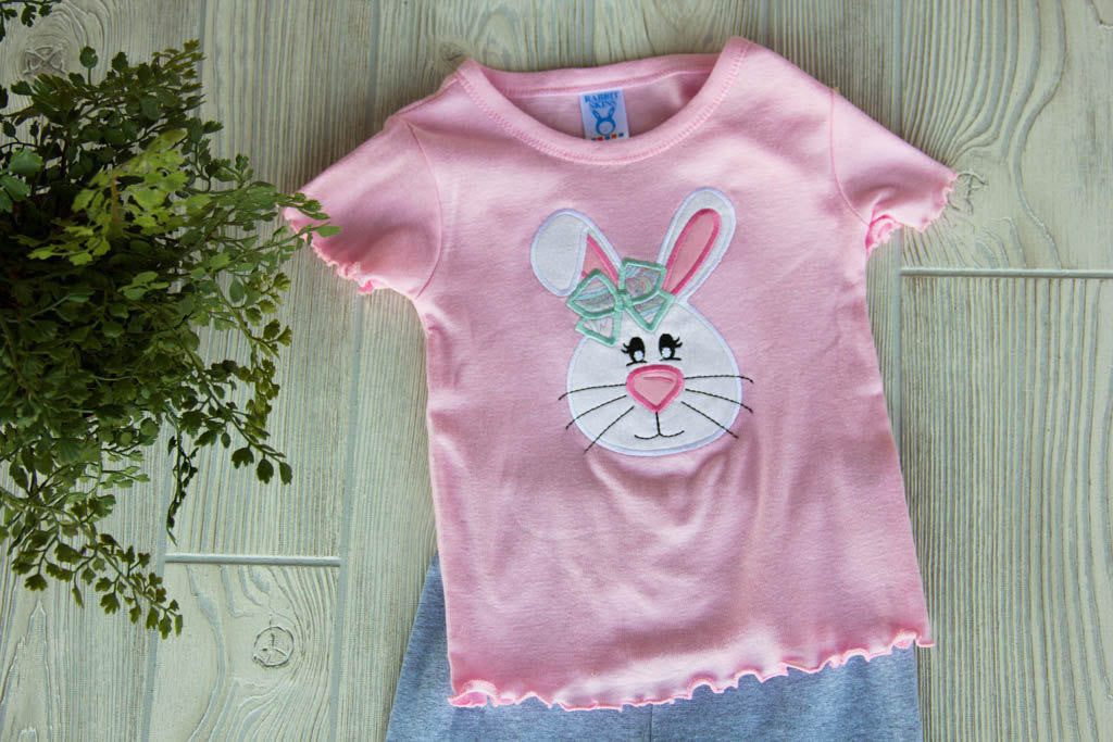 Easter Bunny Face Shirt  Darling Custom Designs