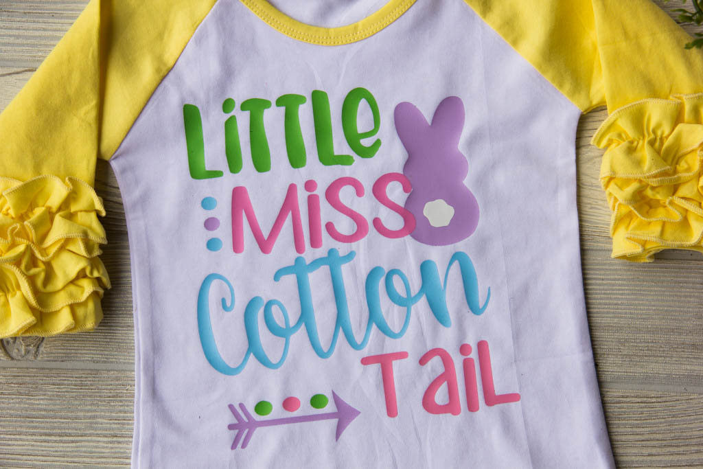 Little Miss Cotton Tail Ruffle Tee Darling Custom Designs