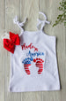 Made in America Sleeveless Top Darling Custom Designs