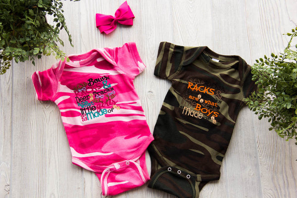 What Little Boys/Girls are Made of Hunting Onesie