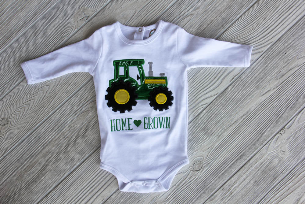 Home Grown Tractor Onesie - Little Brother