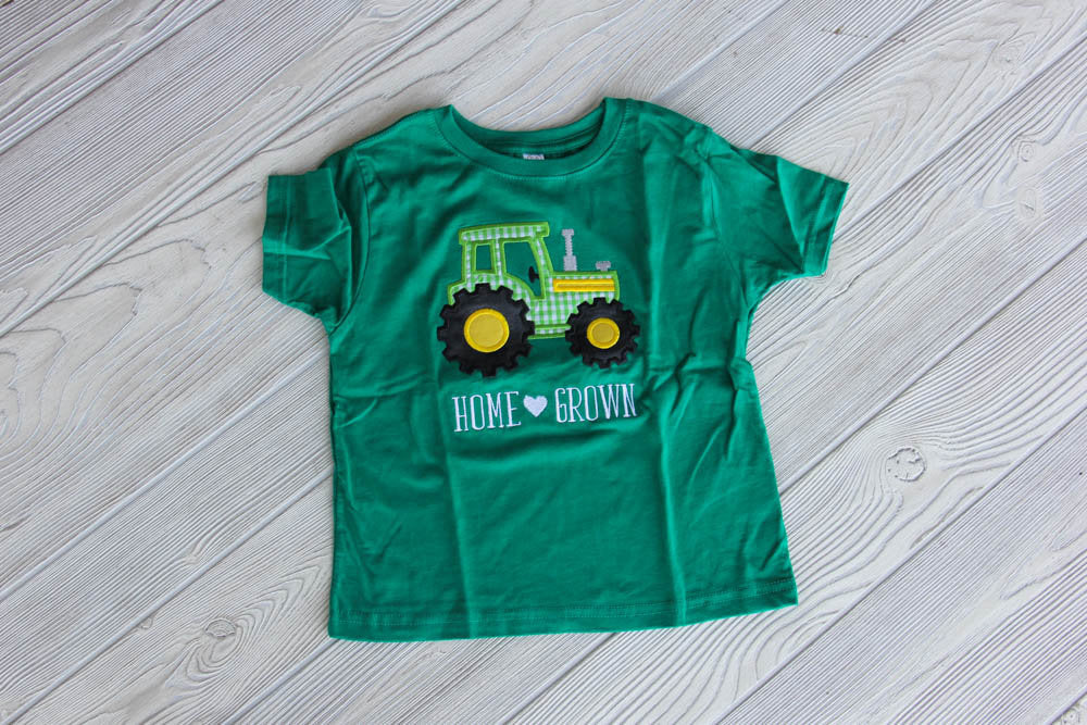 Home Grown Boys Tractor Shirt
