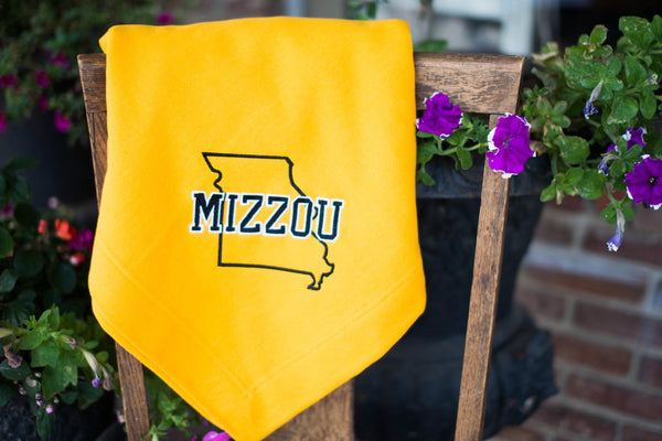 Mizzou Embroidered Fleece Large Stadium Blanket