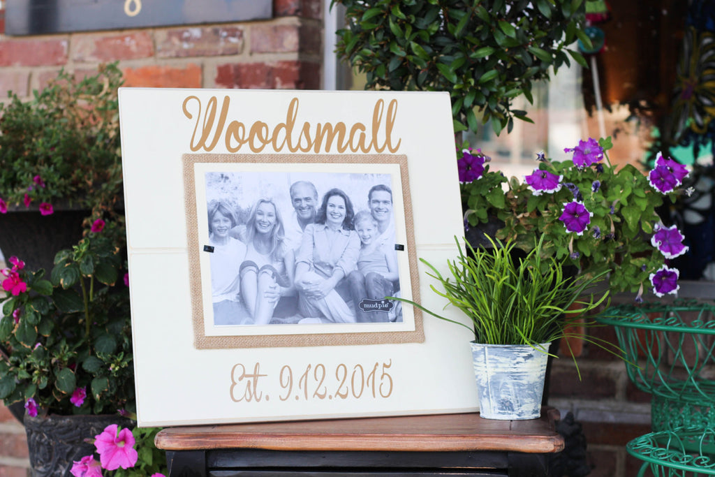 Extra large Personalized Frame for Wedding/Anniversary Gift