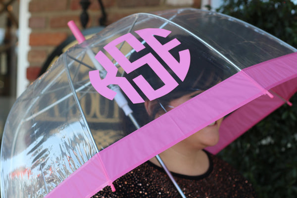 Bubble Umbrella w/ Monogram