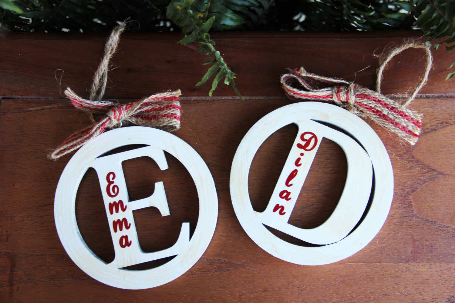 Christmas Vintage Styled Ornament With Burlap Bow By Mud Pie Darling Custom Designs