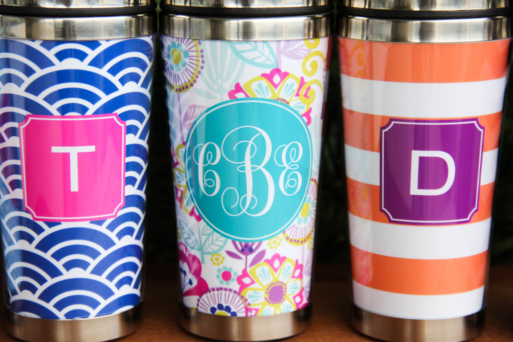 Tall Travel Mug w/ Monogram