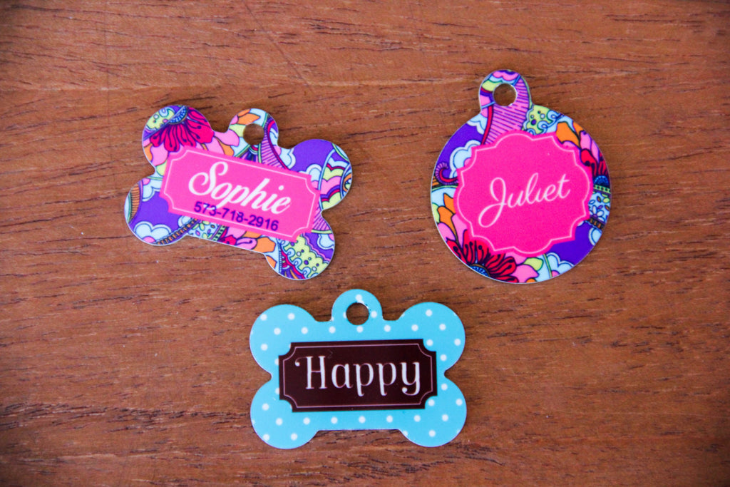 Pet Tags w/ Personalization (Print Collection)