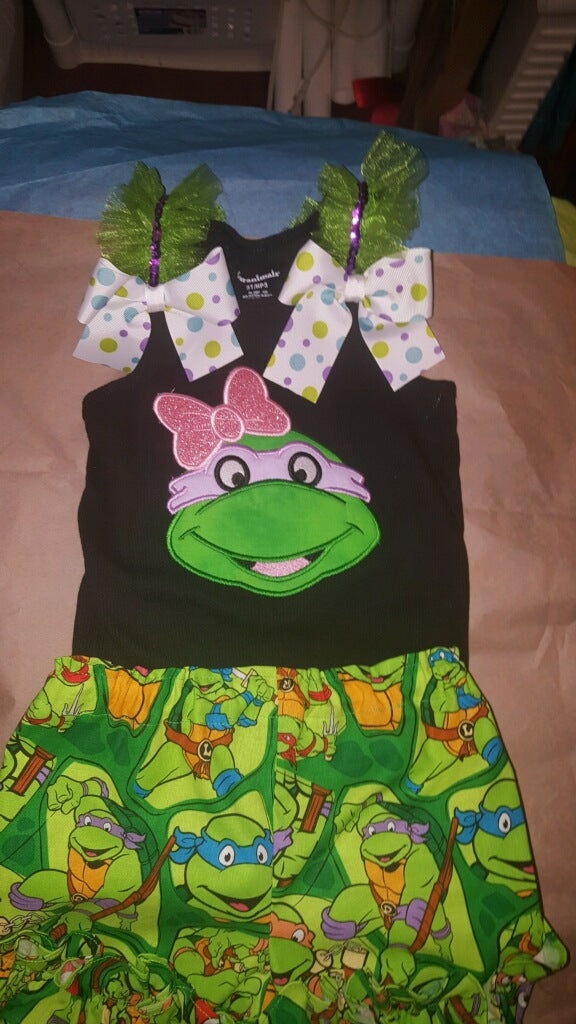 Ninja Turtles Girl's Outfit - Birthday Outfit