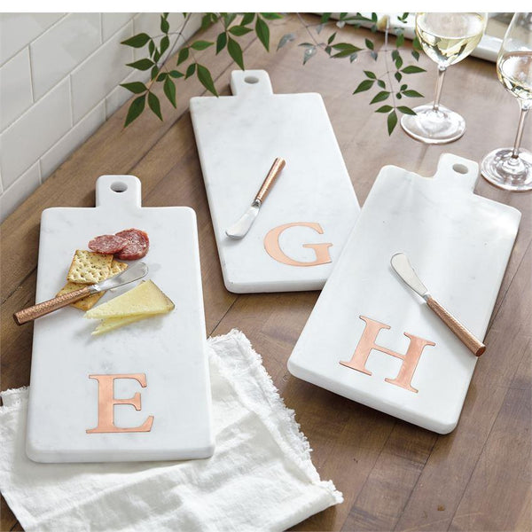 Mud Pie Initial Copper & Marble Cutting Board