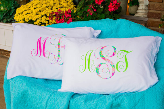 Lilly Pulitzer Pillowcase w/ Monogram