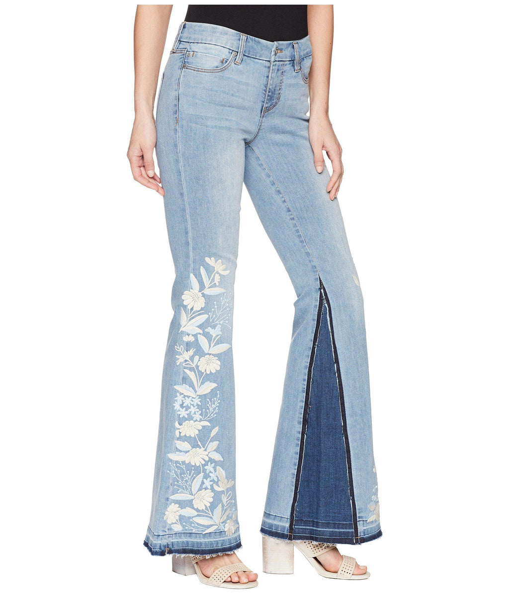 Liverpool Farah Super Flare Embroidered Jeans