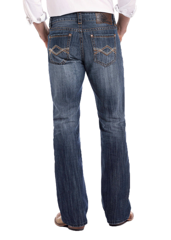 Rock and Roll Denim Jeans Double Barrel Copper Bar Stitch